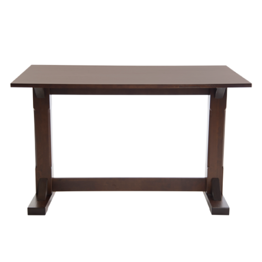 Boston Rectangle Pedestal Traditional Dining Table Dark Walnut Wooden Pubstuff 1