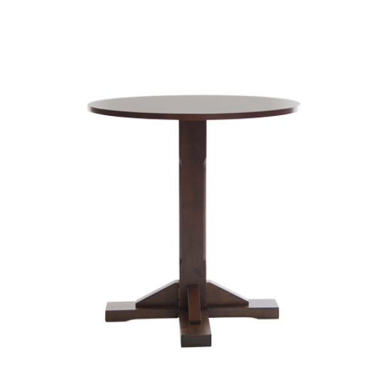 Boston Round Pedestal Traditional Dining Table Dark Walnut Wooden Pubstuff 3