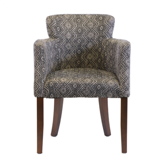 Lisbon Dining Chair Dark Walnut Jewel Jet 1