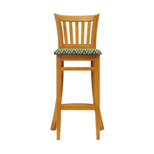 ohio bar chair soft oak padded seat green diamond 2
