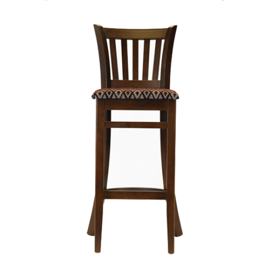 Ohio Bar Chair Dark Walnut Padded Seat Diamond Aubergine 1