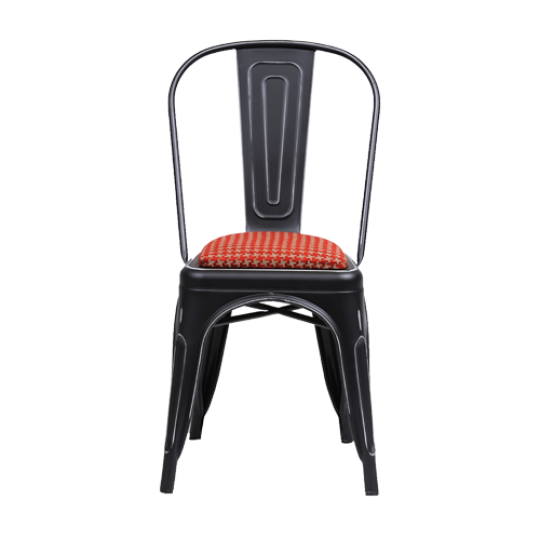 Xavier black chair padded
